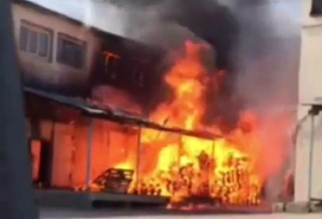 Из-за вспыхнувших в Пензе поддонов едва не загорелось производственное здание