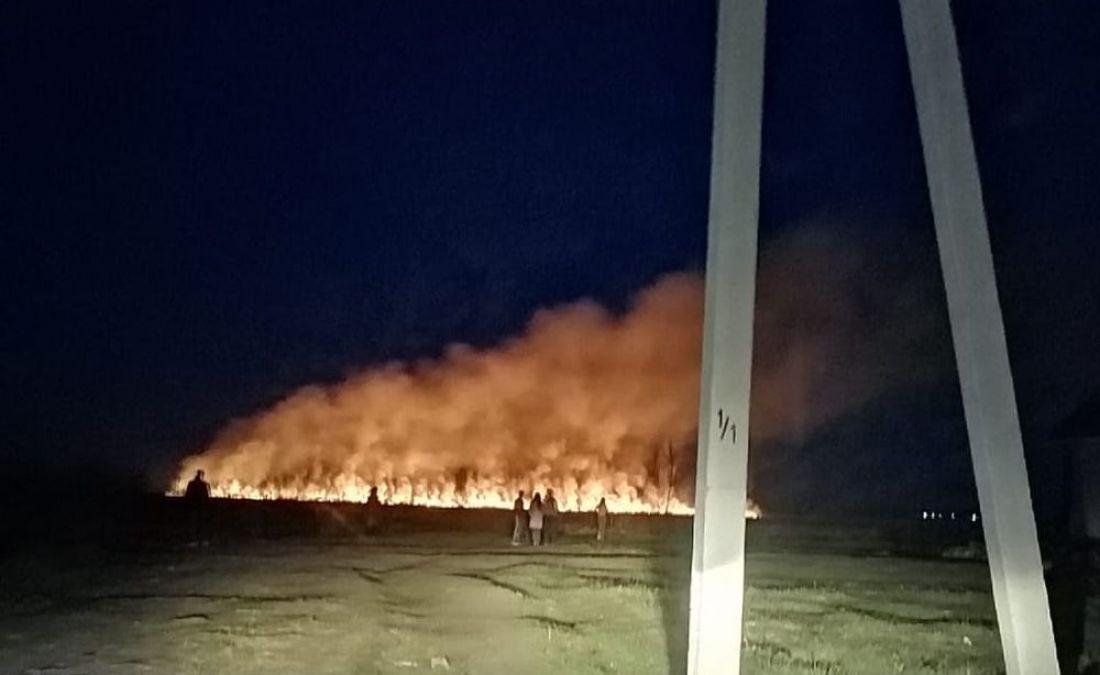 В райцентре Пензенской области в темное время суток загорелось поле